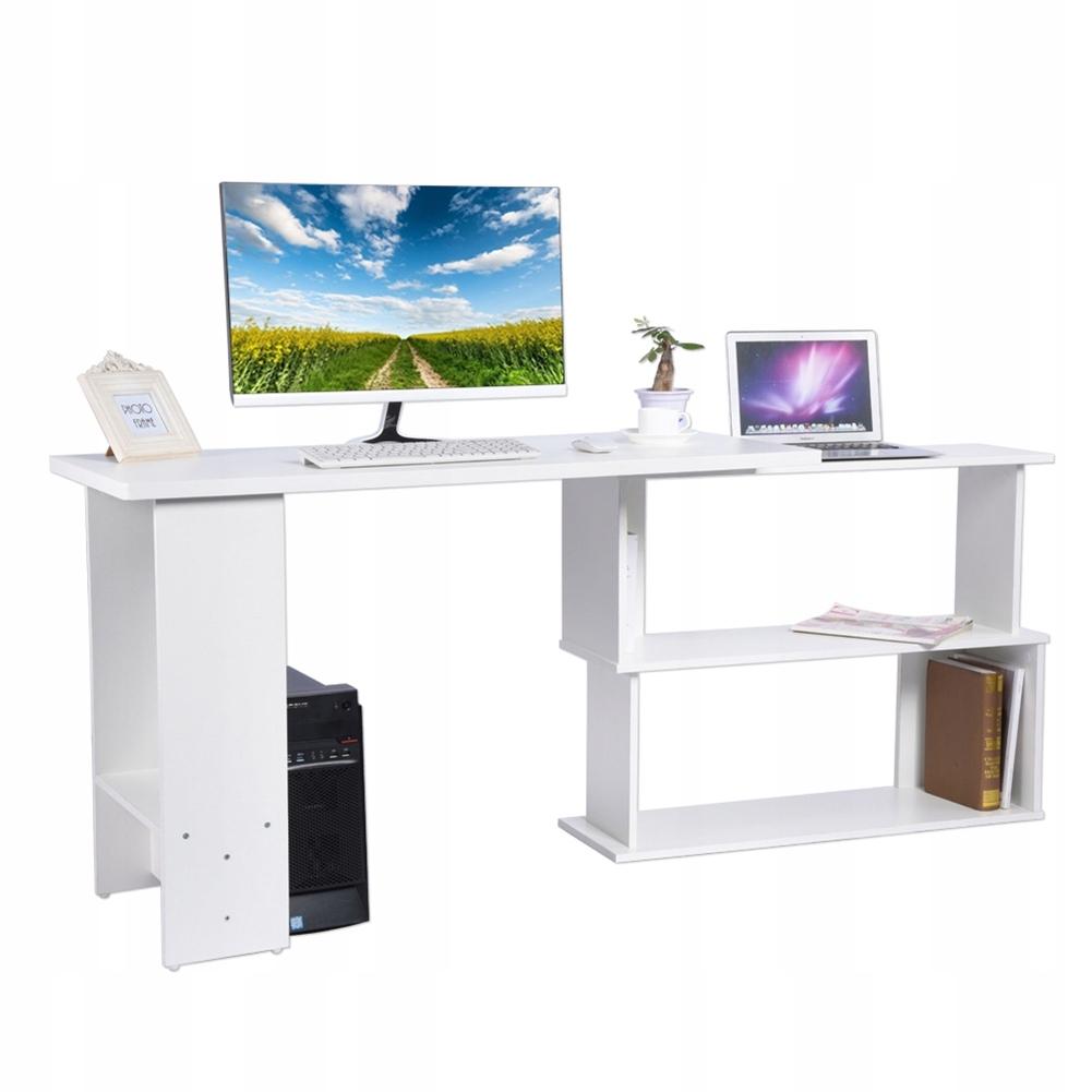 biurko komputerowe w kształcie litery L