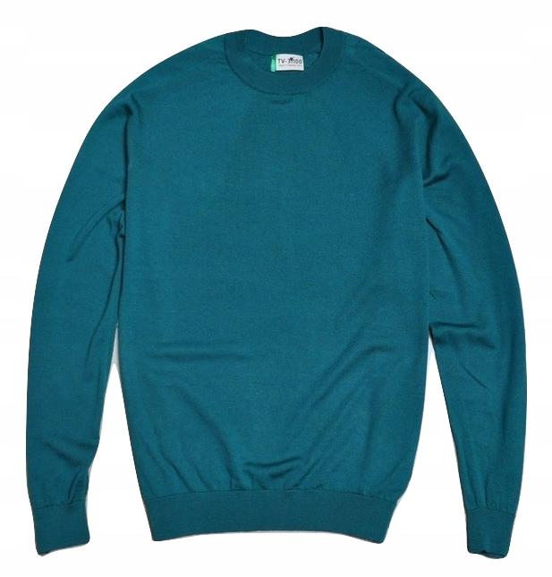 BENETTON TREVISO ITALY kaszmirowy sweter XXL