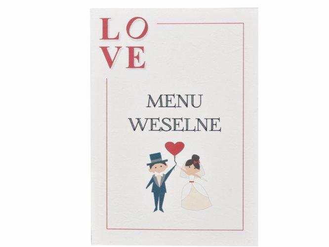 menu weselne/ ślubne love - w formie książeczki