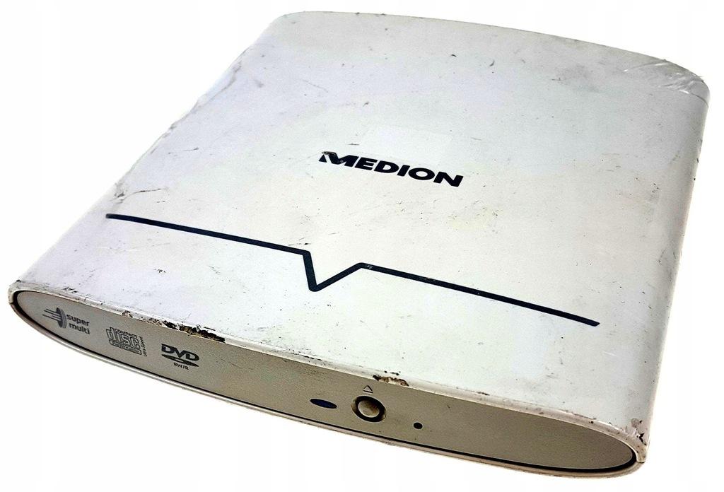 Nagrywarka zewnętrzna DVD MEDION LG USB biała