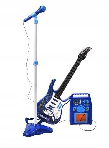 Gitara elektryczna + mikrofon + wzmacniacz nieb