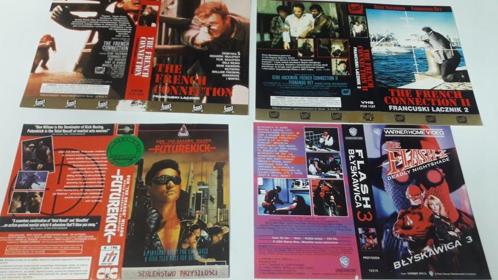 A-0874 pakiet 8 okładek kaset vhs