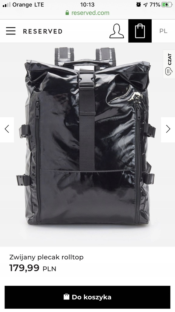 Plecak typu roll-top Reserved