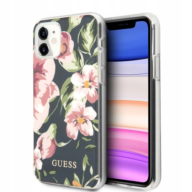 Guess Flower Shiny Collection N3 - Etui iPhone 11