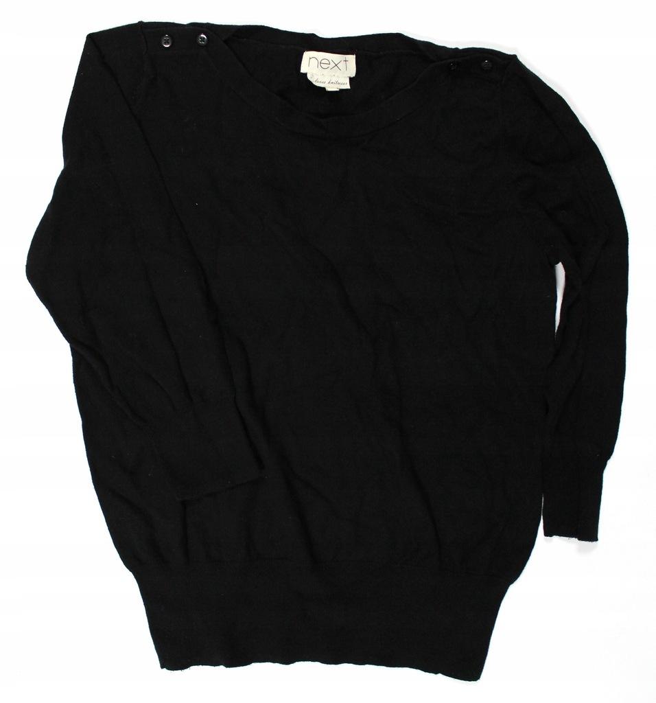 Czarny sweter NEXT XL 42 casual basic