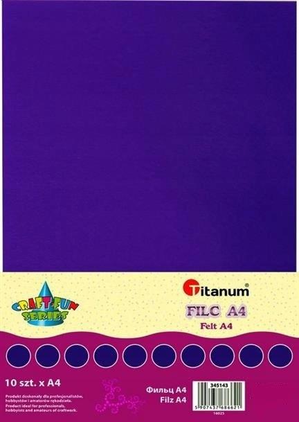 Filc dekoracyjny, 10ark format A4 fiolet CRAFT-FUN