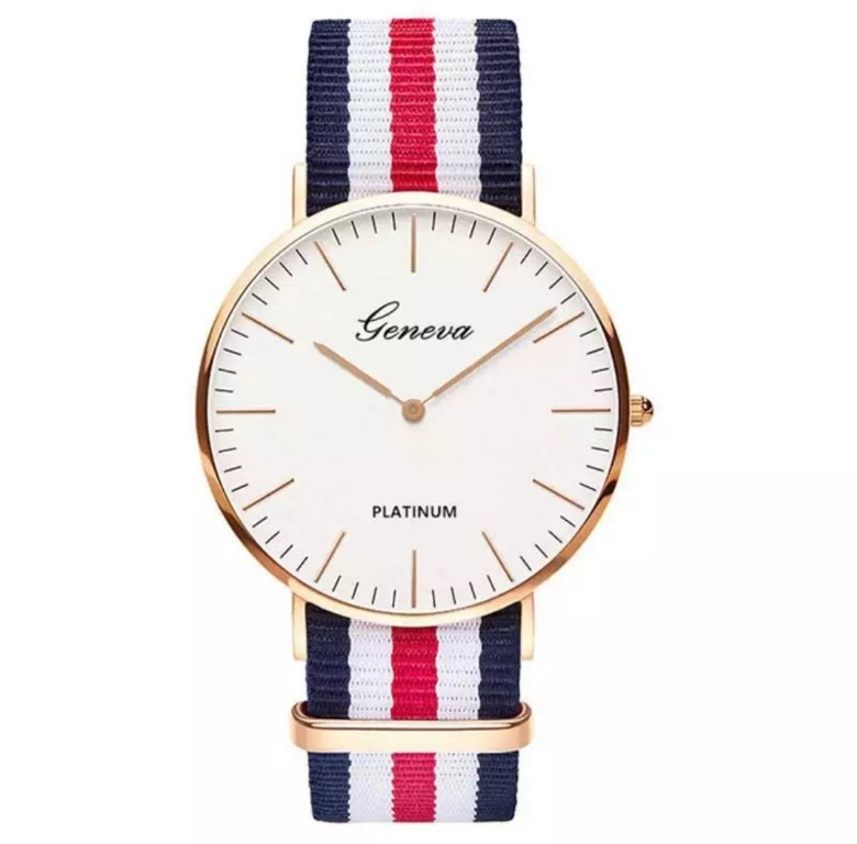 Stylowy Zegarek Geneva Platinum