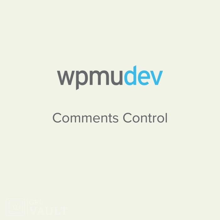 Wtyczka WordPress WPMU DEV Comments Control