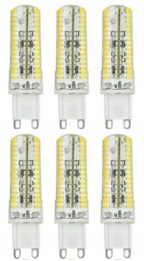 G9 żarówka LED ściemnialna 6W=45W biały ciepły