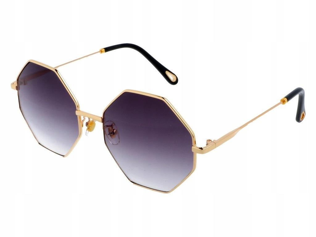 Czarne okulary przeciwsłoneczne ośmiokątne 7798571697