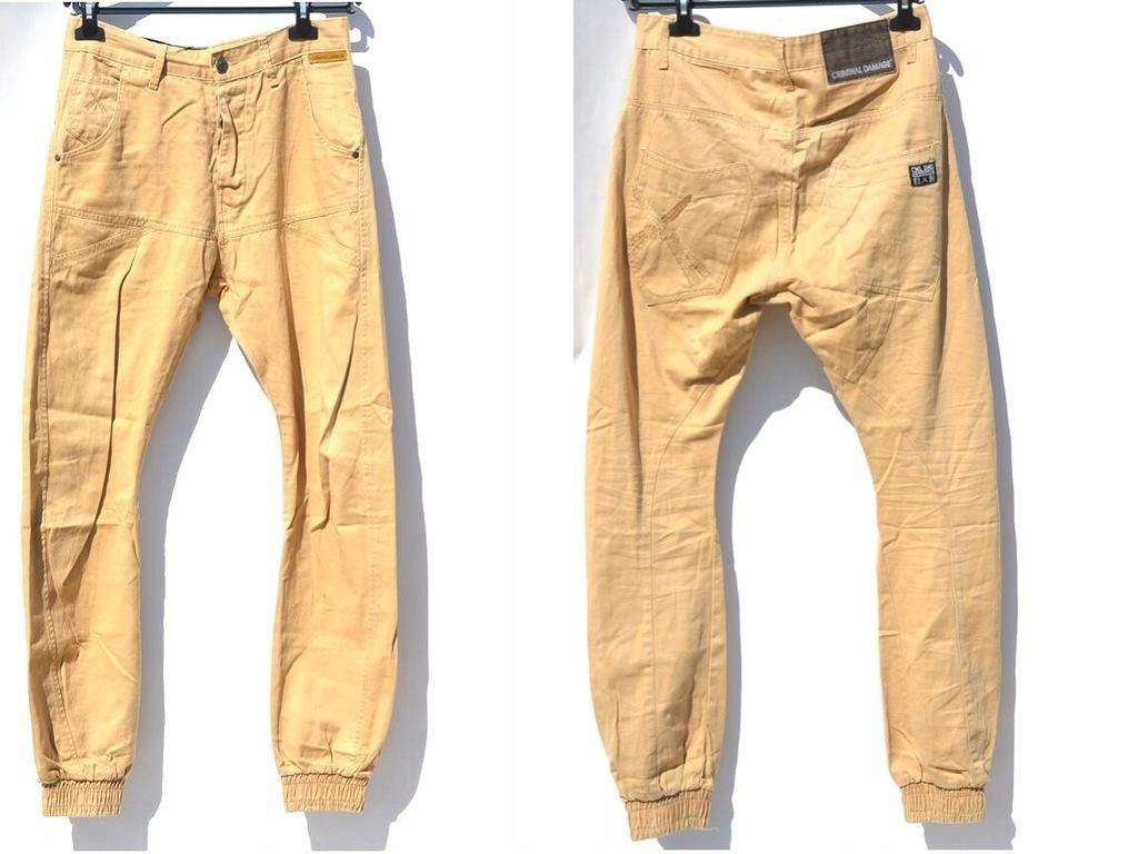 Criminal Damage - Brązowe Spodnie W30/L32
