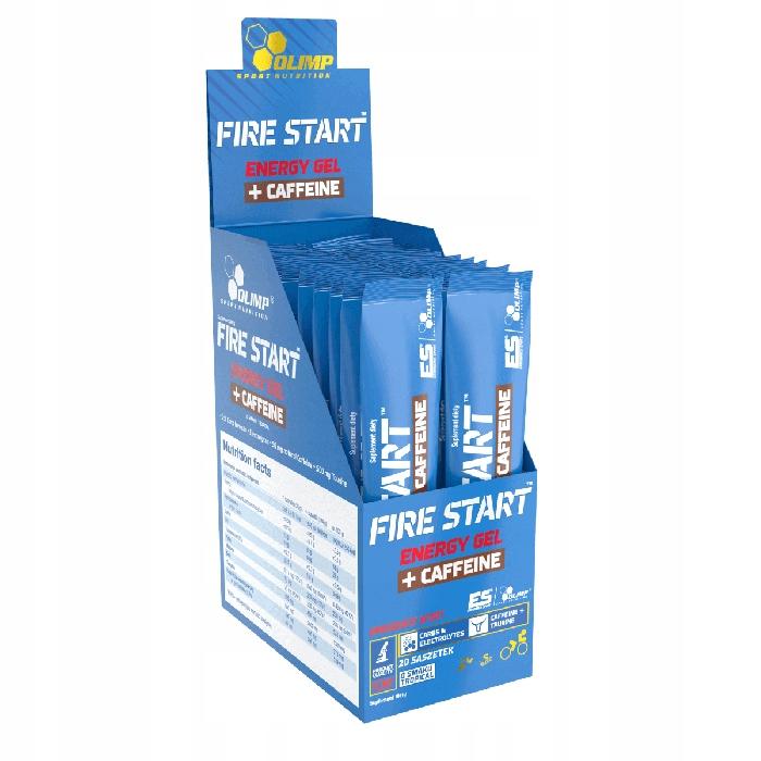 OLIMP żel energetyczny Fire Start z kofeiną 20 szt