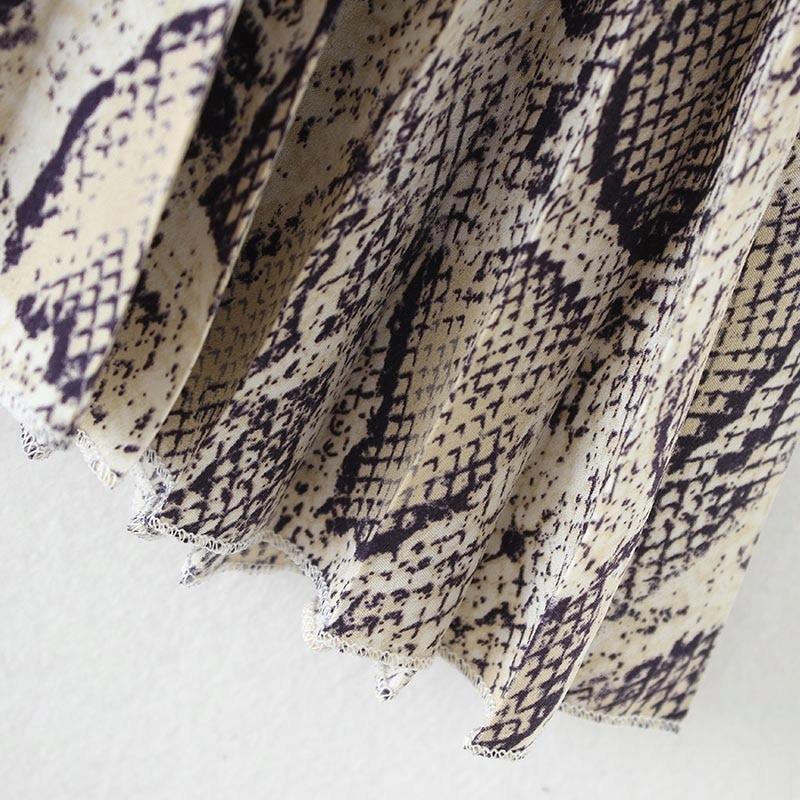 Spódnica plisowana midi WĘŻOWA SKÓRKA wężowy S 36
