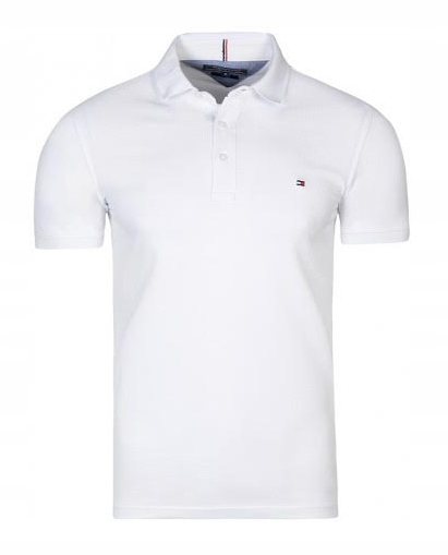 Koszulka męska polo Tommy Hilfiger TH biała L