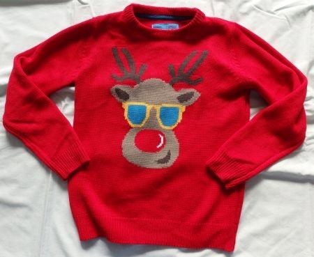 REBEL sweter z reniferem świąteczny 9-10L r. 140