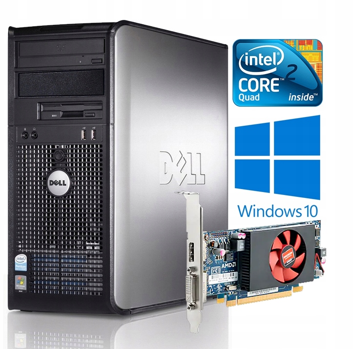 KOMPUTER DO GIER PC DELL QUAD 4x2,66 GRAFIKA 1GB