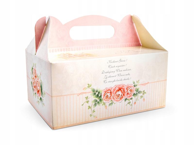Pudełko na ciasto weselne podziękowanie 10 sztuk