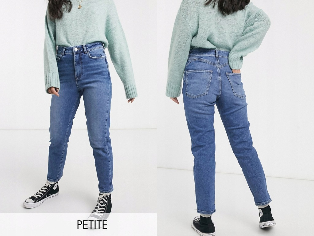 New Look Petite Niebieskie mom jeans XXS/32