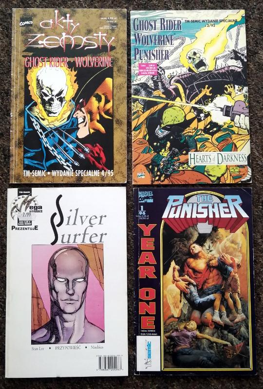 Zestaw komiksów z TM-Semic, Punisher, Wolverine