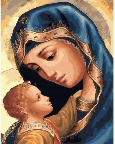 Malowanie po numerach - Maryja