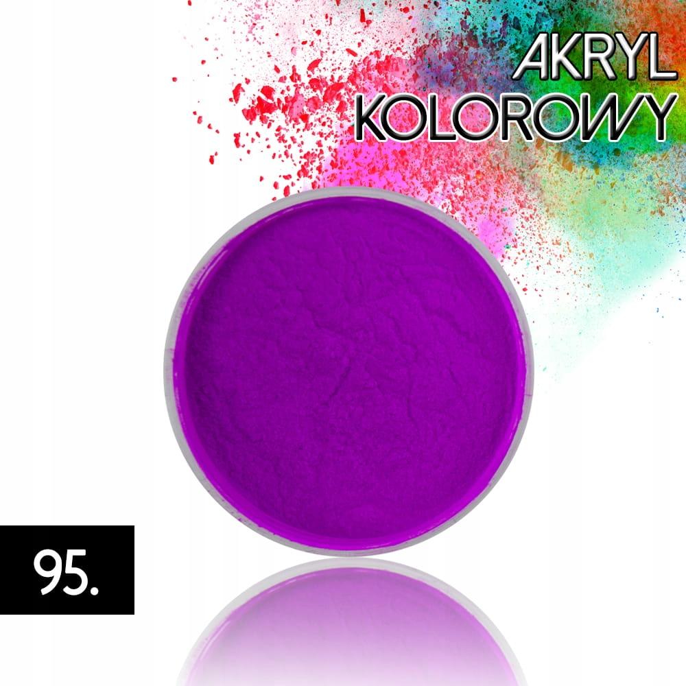 Akryl 95 kolorowy proszek akrylowy 4g do zdobień