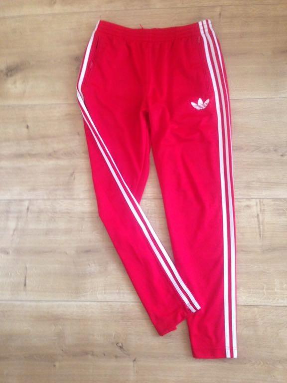 Adidas Firebird Orginals Red Oldschool Spodnie
