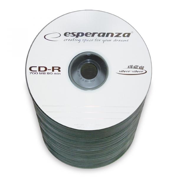ESPERANZA CD-R SILVER 700MB 80MIN 100 SZT + marker