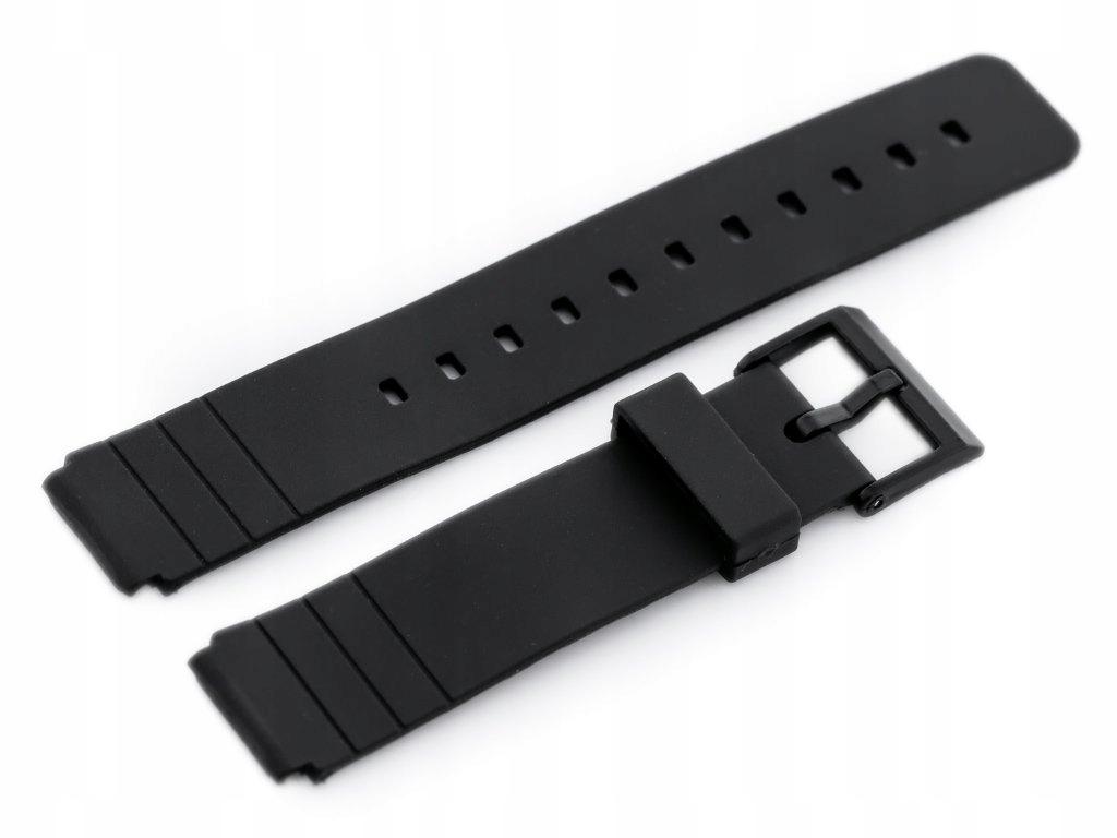 Pasek gumowy do zegarka - model 8 czarny - 16mm
