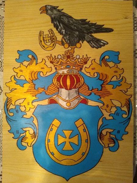 HERB SZLACHECKI JASTRZĘBIEC, 27 x 39 cm