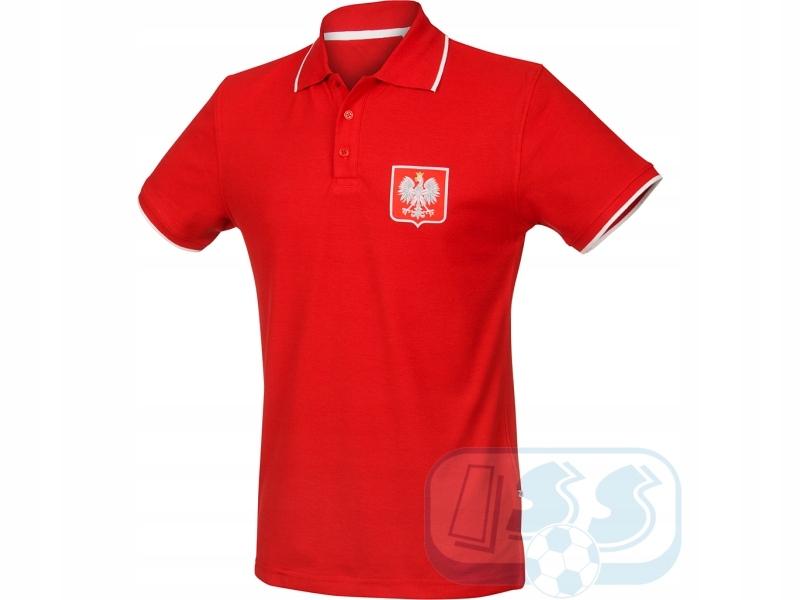 Polska - czerwona koszulka polo rozmiar M!