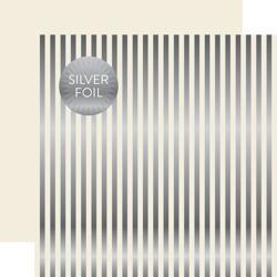 Papier 30x30 - Echo Park - Silver Foil Stripe
