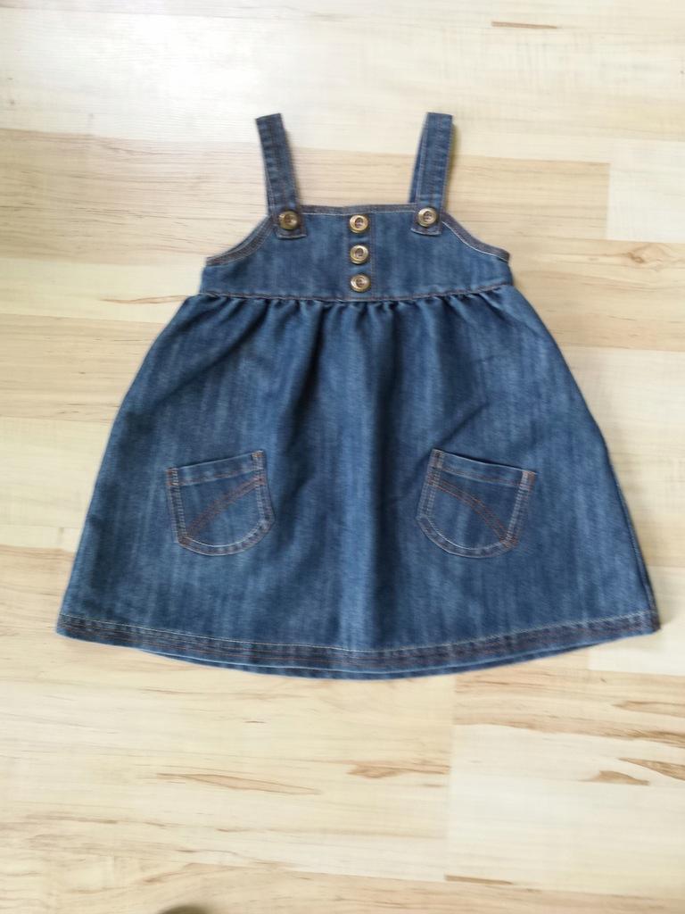 Next sukienka jeans, dziewczynka 18-24 lata, r 92
