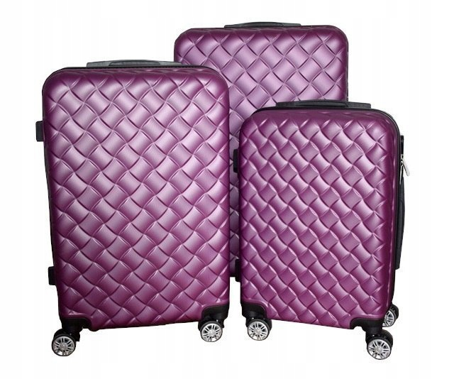 Zestaw walizek podróżnych MULANO fioletowe M L XL