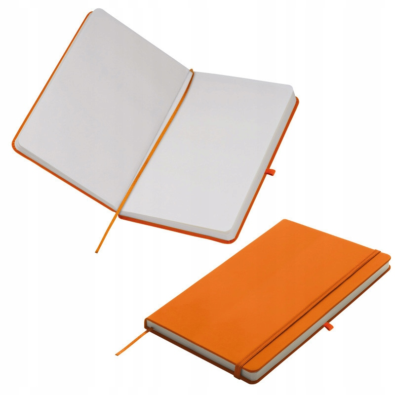 NOTES A5 Z GUMKĄ - pomarańczowy karton 50szt.