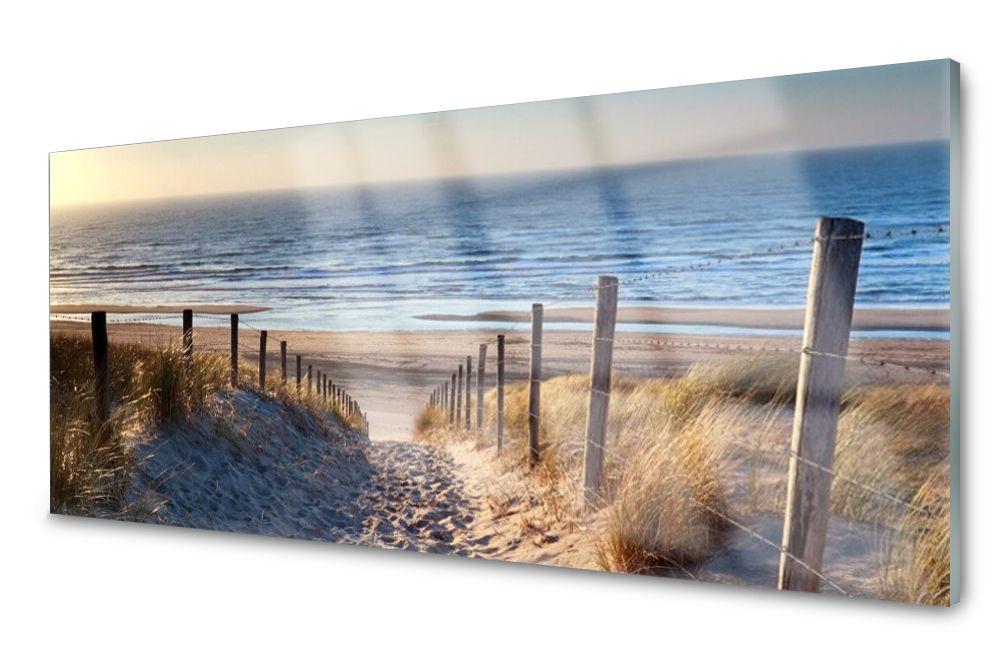 Lacobel Panel Szklany Ścienny Plaża Ścieżka 120x60