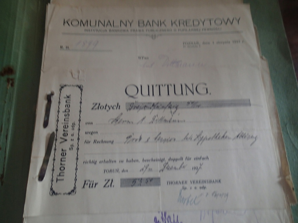 30 (teczka )x Komunalny Bank Kredytowy Poznań 26 r