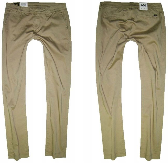 Lee slim chino L317BM04 BEŻOWE CHINOSY W32 L31