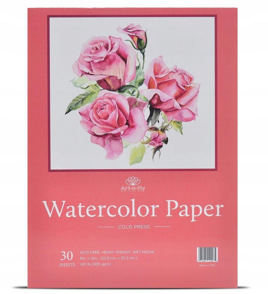 Papier Akwarelowy 30 arkuszy A4 22,9 x 30,5 cm