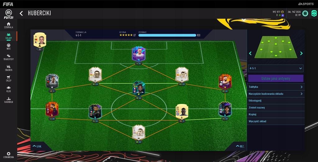 Konto FIFA 21 PC skład za 7mln coins!!