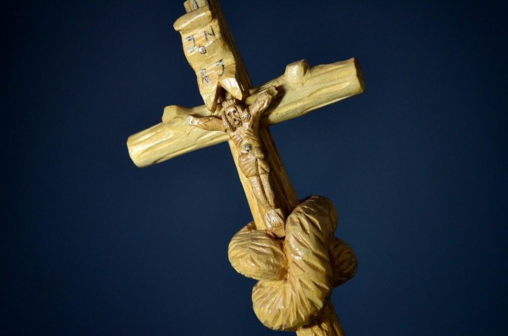 Drewniana rzeźba ludowa | krucyfiks