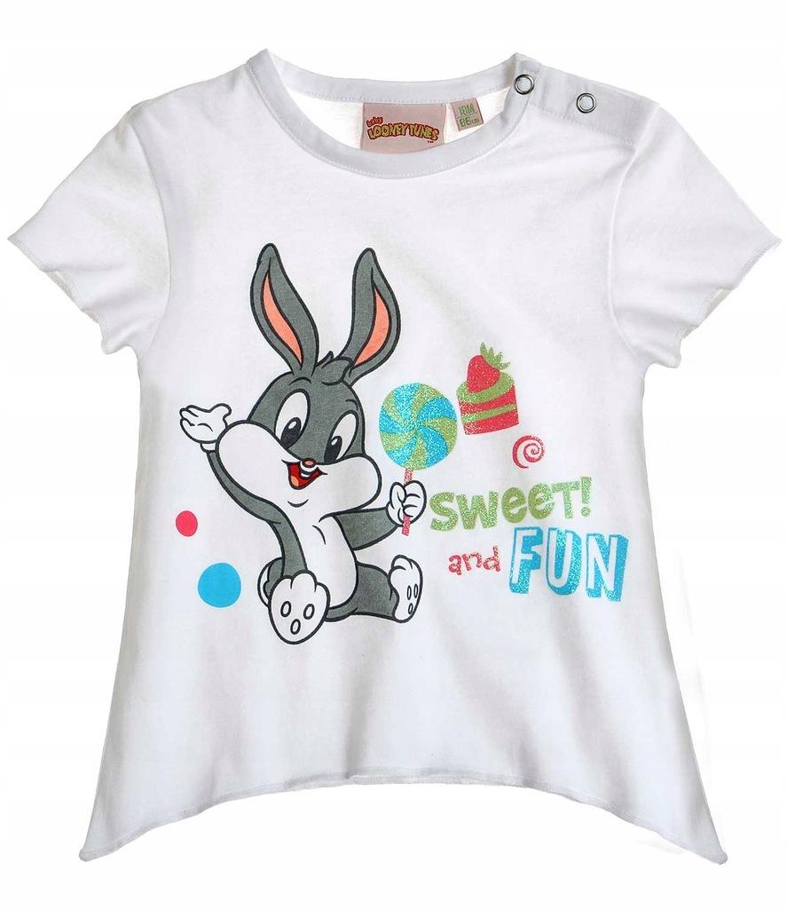 Looney Tunes 80 koszulka t-shirt Królik biała