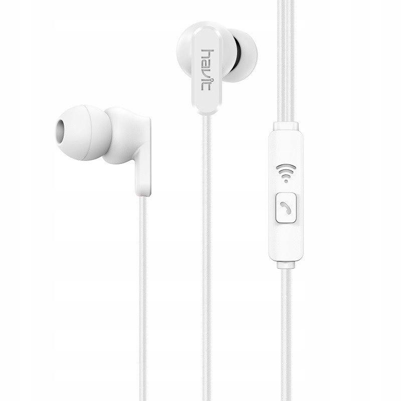 Słuchawki przewodowe Havit E73P (białe)