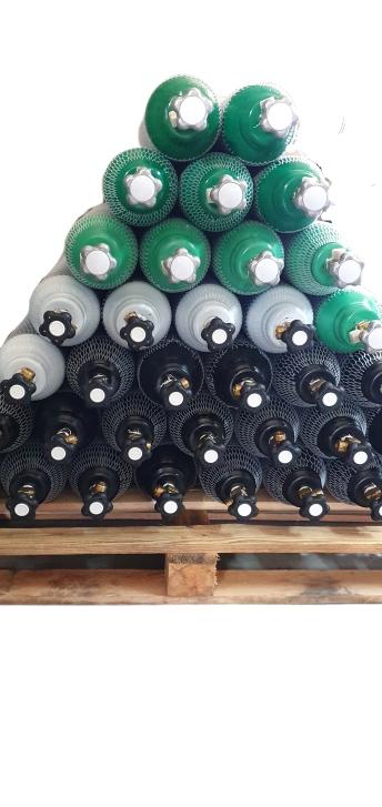 Butle 10L butla 200bar Azot,Mix,Argon,CO2,Tlen,Hel
