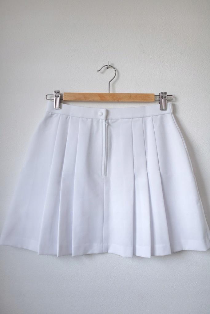 FILA Tenisowa biała plisowana spódnica tumblr XS
