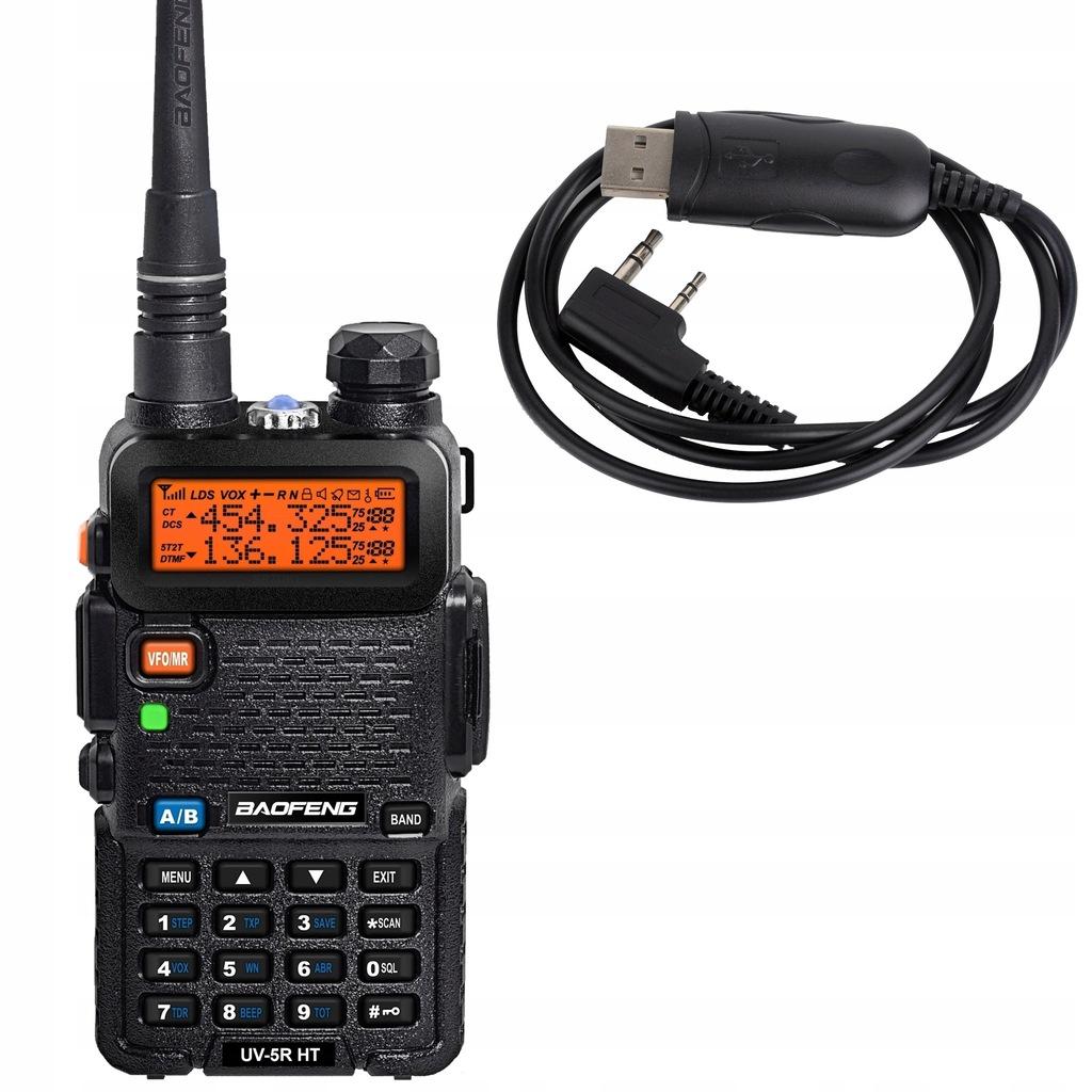 Baofeng UV-5R HT + kabel do programowania Baofeng