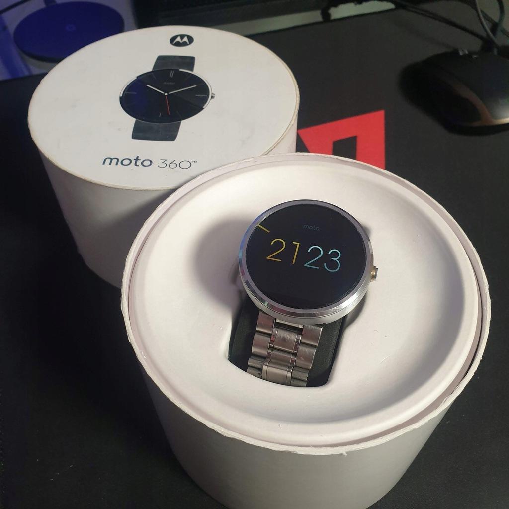 Smartwach Motorola moto 360 srebrny