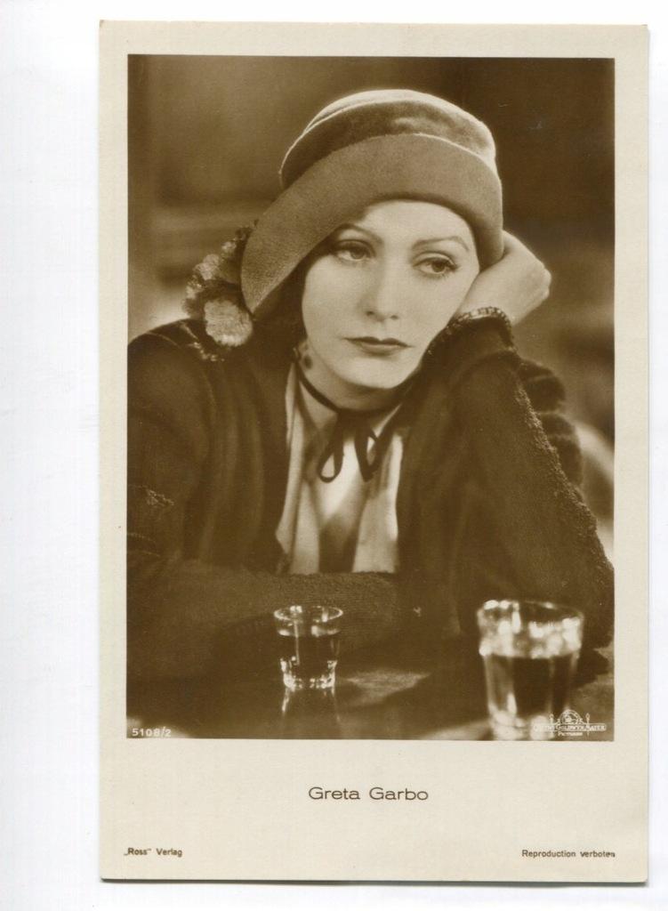 Greta Garbo Kino Film Aktorka Foto Pocztówka 8