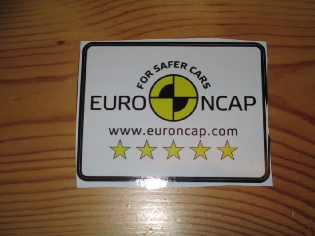 NAKLEJKA EURO NCAP TEST  RARYTAS