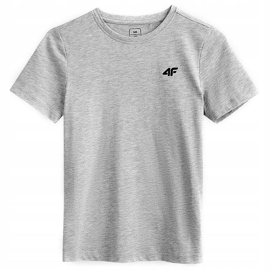 T-shirt koszulka chłopięca 4F szara 140 cm