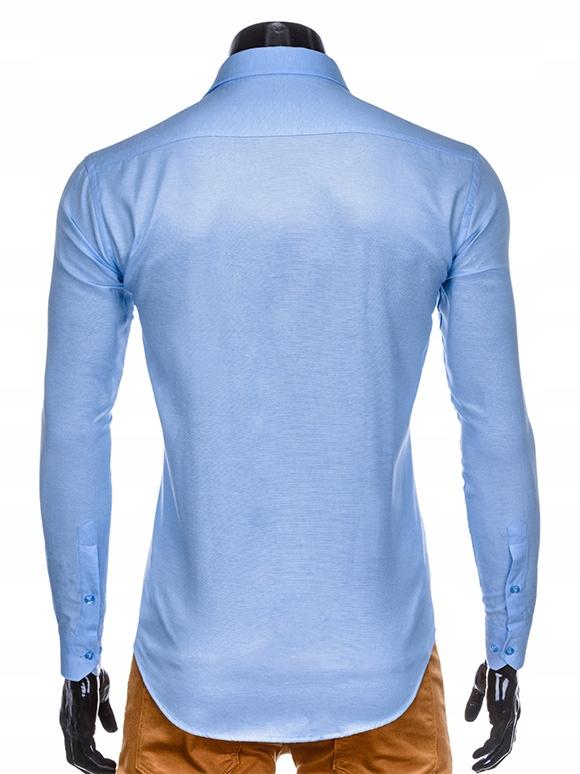 Koszula męska z długim rękawem 413K czarna